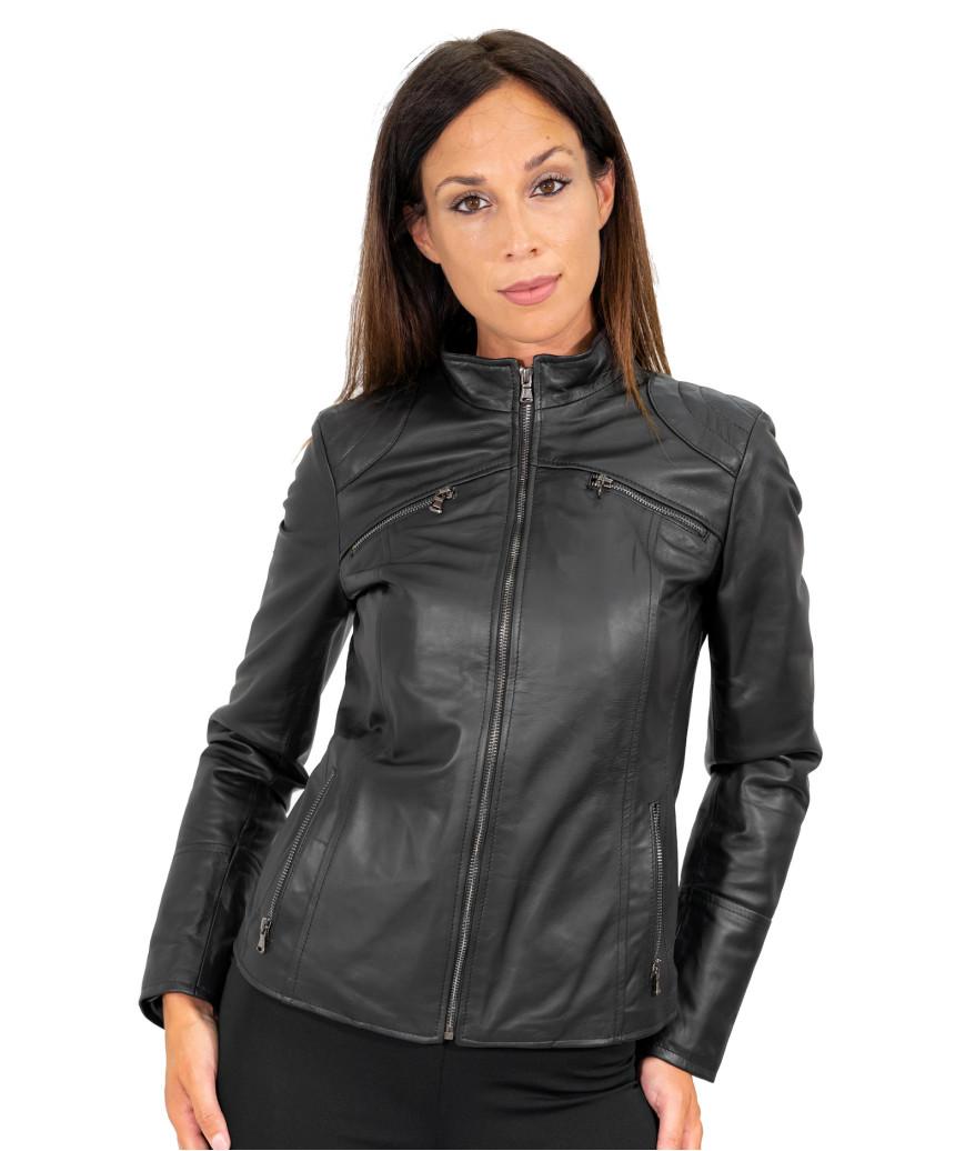 Classic 712 - Giacca Donna in Vera Pelle colore Giallo Morbida