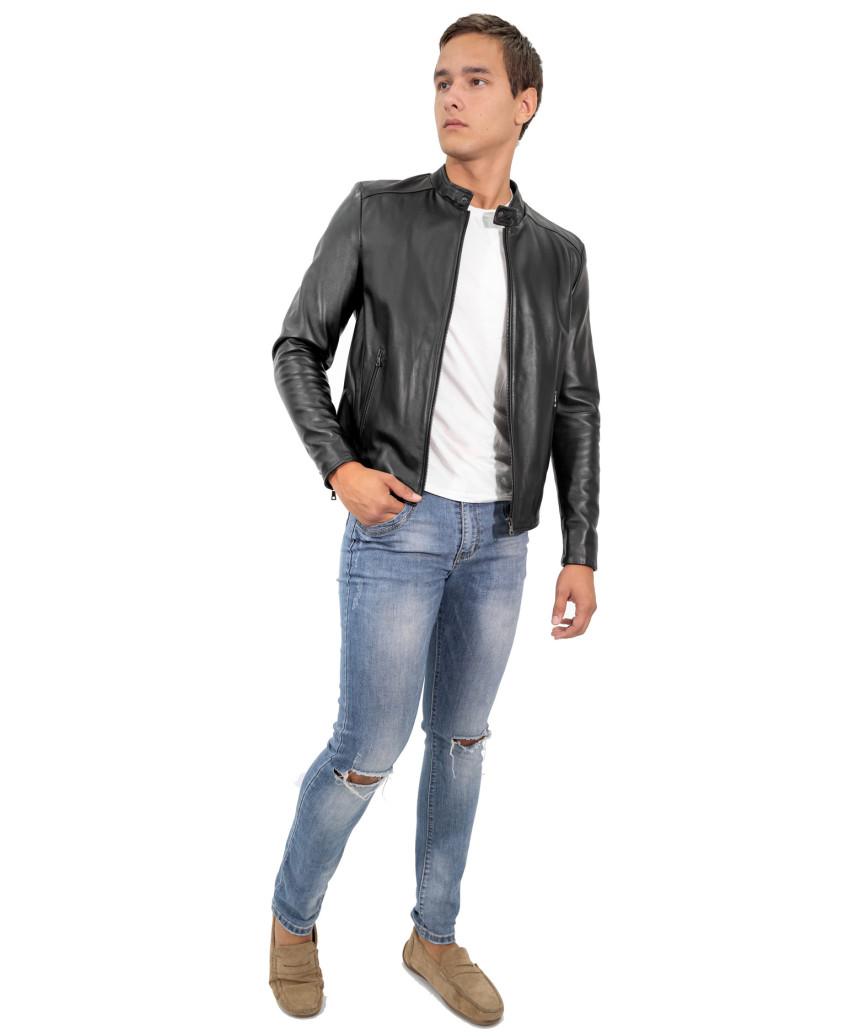 Classic 712 - Giacca Donna in Vera Pelle colore Rosso Morbida