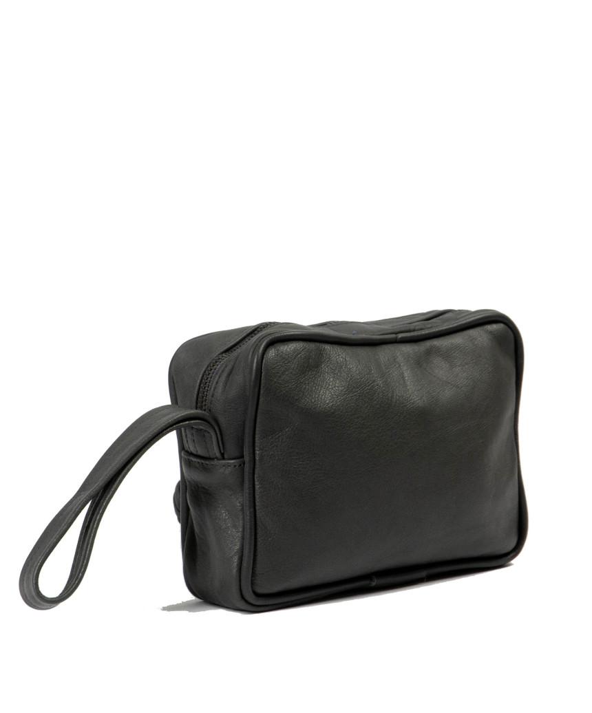 Genuine Leather Jacket with Aged Blue Belt