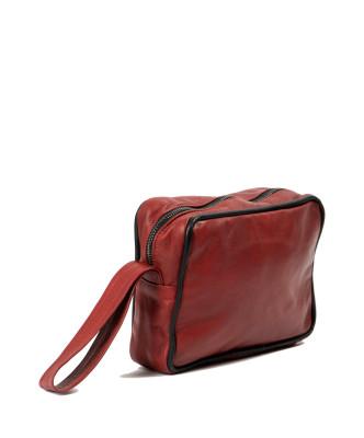 Chiodino - Giacca Donna in Vera Pelle colore Rosso Morbida
