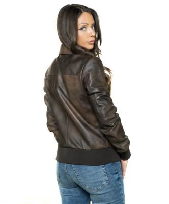 Ary - Giacca Donna in Vera Pelle colore Rosso Morbida