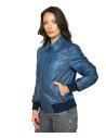 U05 - Men's Jacket of Genuine soft Dark Brown Leather - 1