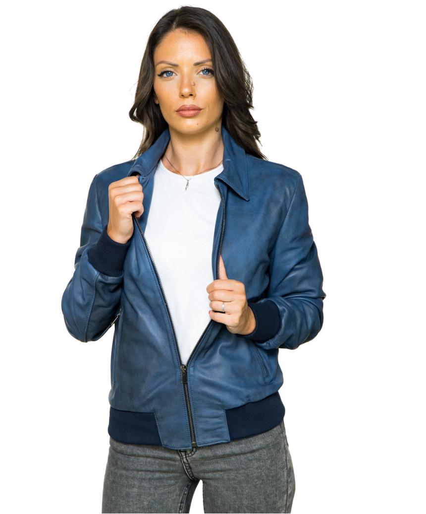 U05 - Men's Jacket of Genuine soft Dark Brown Leather - 3