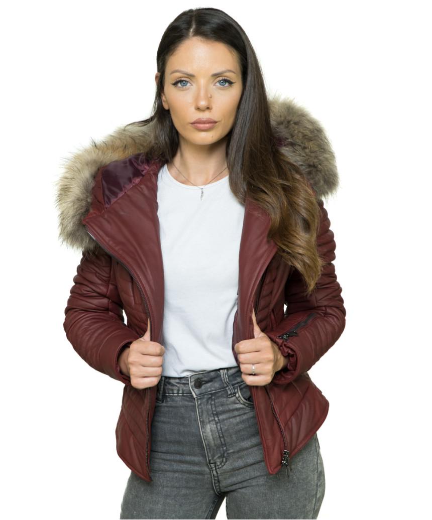 Vanessa - Women Genuine Aged Brown Leather Jacket