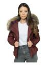 Vanessa - Women Jacket of Genuine Aged Brown Leather - 1