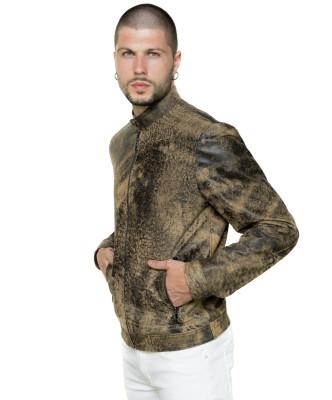 Vanessa - Giacca Donna in Vera Pelle colore Verde Asportato