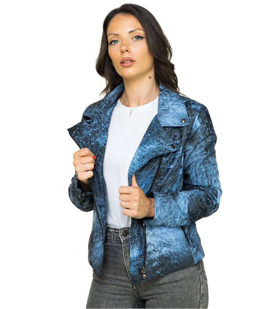 Michelina - Giacca Donna in Vera Pelle colore Marrone Invecchiato