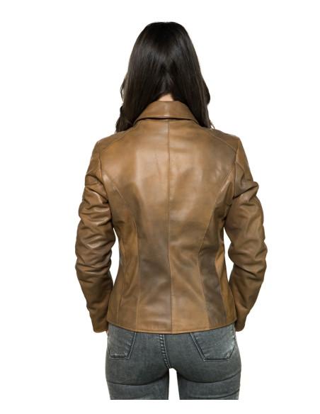 Chiodo Uomo - Men Jacket of Genuine Black Vintage Leather - 1