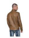 U010 - Giacca Uomo in Vera Pelle colore Marrone Invecchiato