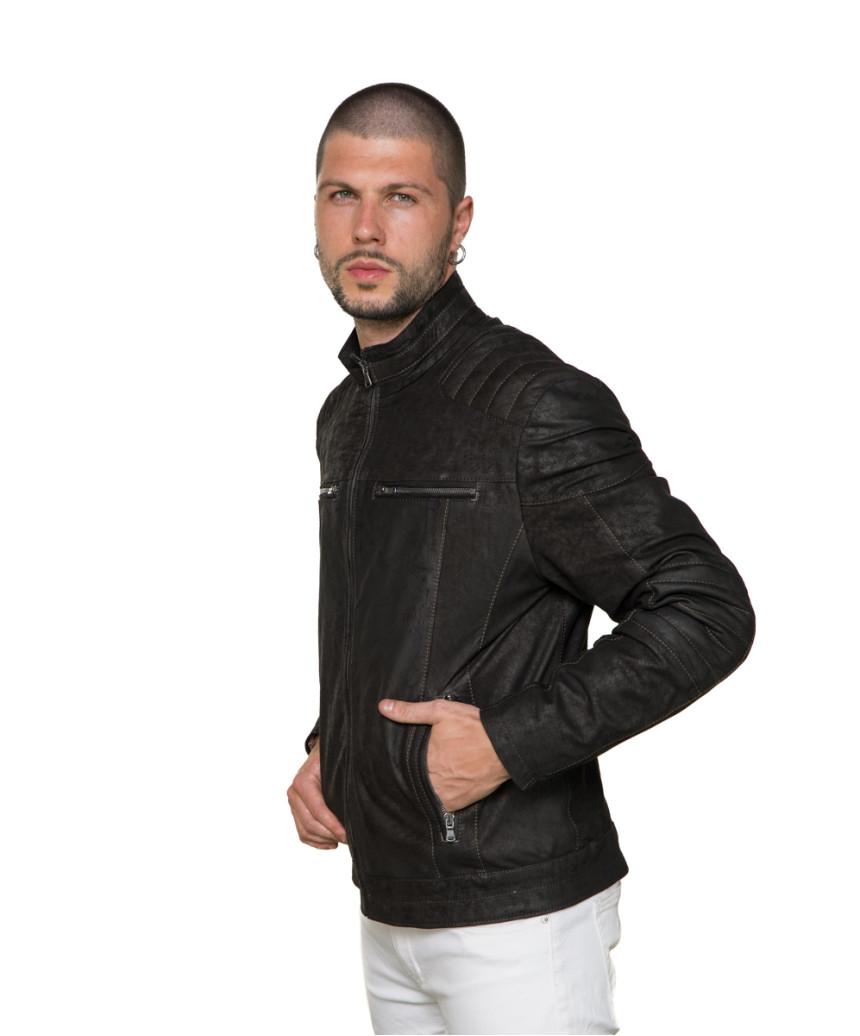 Schott Napoli - Black Genuine Leather Jacket for Men