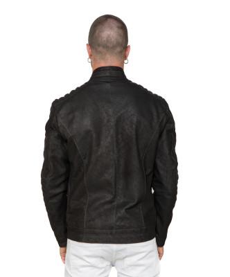 Schott Napoli - Men Jacket of Black Genuine Leather - 2