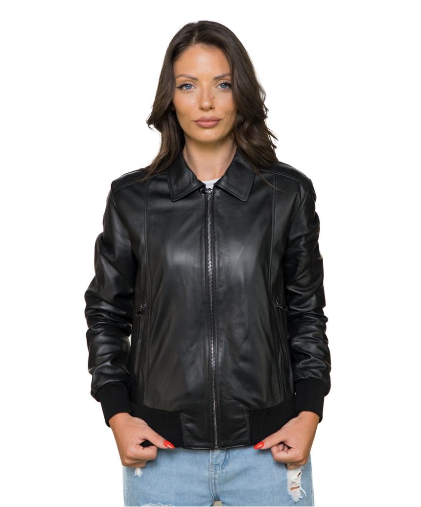 Bomber Maverick - Men's Jacket in Genuine Dark Brown Leather Oil Vintage