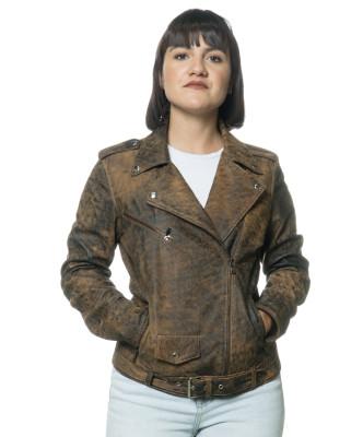 Vale - Giacca Donna in Vera Pelle colore Rosso Morbida
