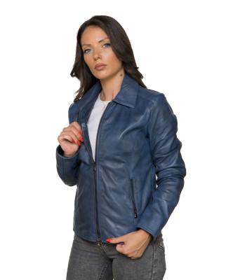 Raff - Women Genuine Matt Black Leather Jacket - 5