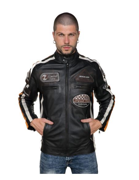 Colima - Giacca Donna Vera Pelle colore Verde Tamponato - 4