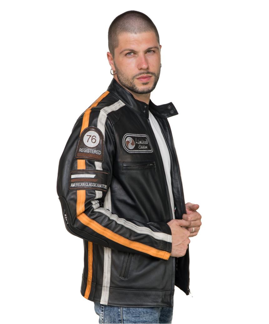Colima - Giacca Donna Vera Pelle colore Verde Tamponato - 5