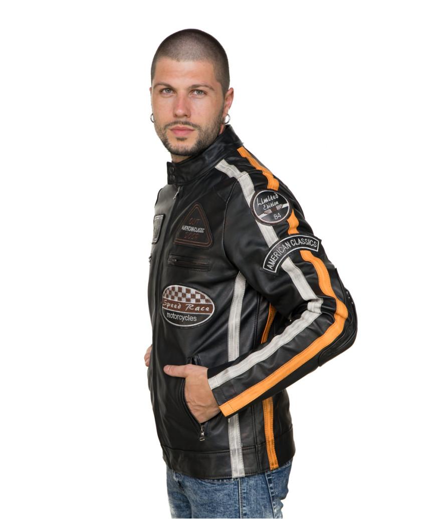 Colima - Giacca Donna Vera Pelle colore Verde Tamponato - 6