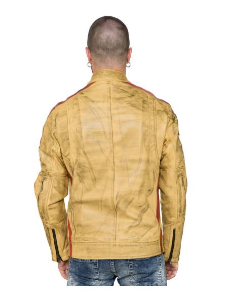 U09 - Men's Jacket of Soft Brown Genuine Leather - 1