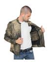 U04 - Men's Jacket of Genuine Soft Aged Brown Leather - 3