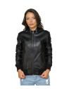 Chiodo Donna - Women Genuine Dark Brown Leather Jacket - 4
