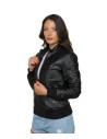 Chiodo Donna - Women Genuine Dark Brown Leather Jacket - 6