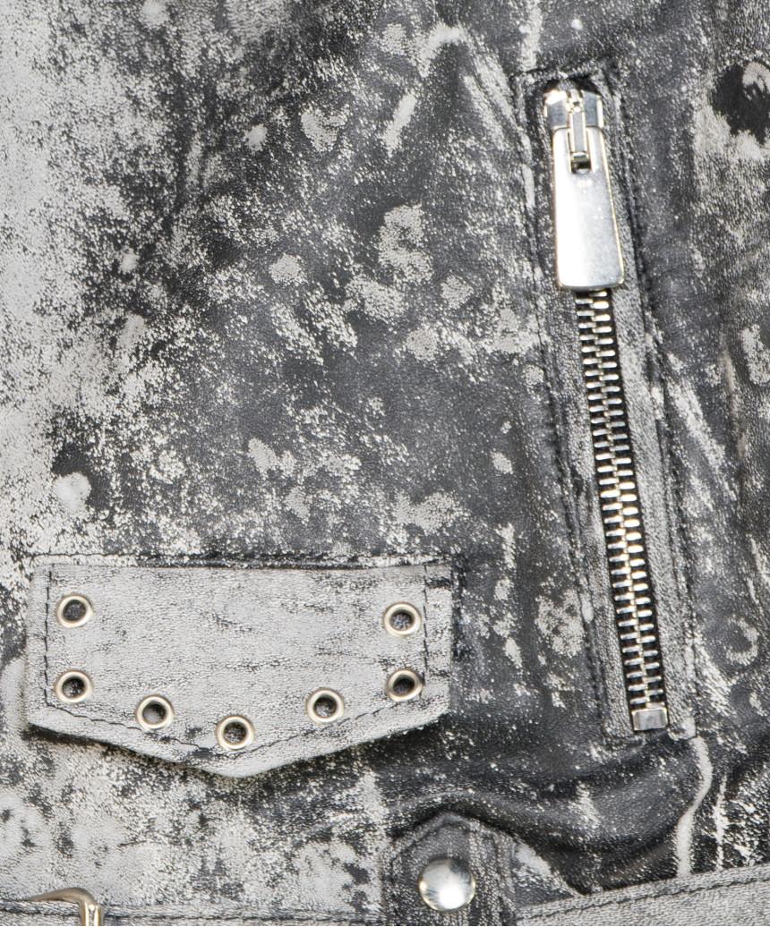 U06 - Dark Genuine Leather Oil Vintage Man Jacket