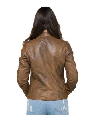 U06 - Giacca Uomo in Vera Pelle colore Testa di Moro Oil Vintage