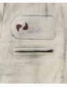 Raff - Women Jacket of Genuine Blue Oil Vintage Leather - 3