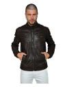Vanessa - Women Genuine Blue Leather Jacket Oil Vintage - 1