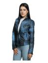 Violetta - Women Jacket Genuine Blue Oil Vintage Leather - 1