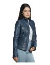 Violetta - Women Genuine Aged Red Leather Jacket - 1