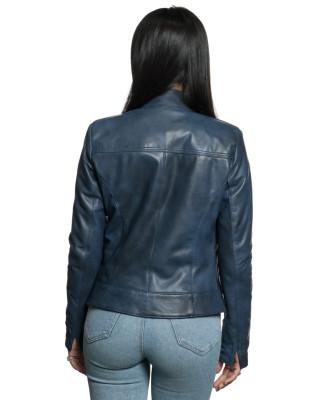 Violetta - Women Genuine Aged Red Leather Jacket - 2