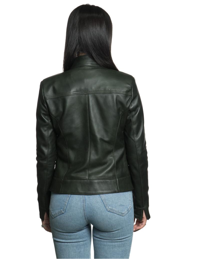 Zara - Giacca Donna in Vera Pelle colore Cuoio Invecchiato - 3