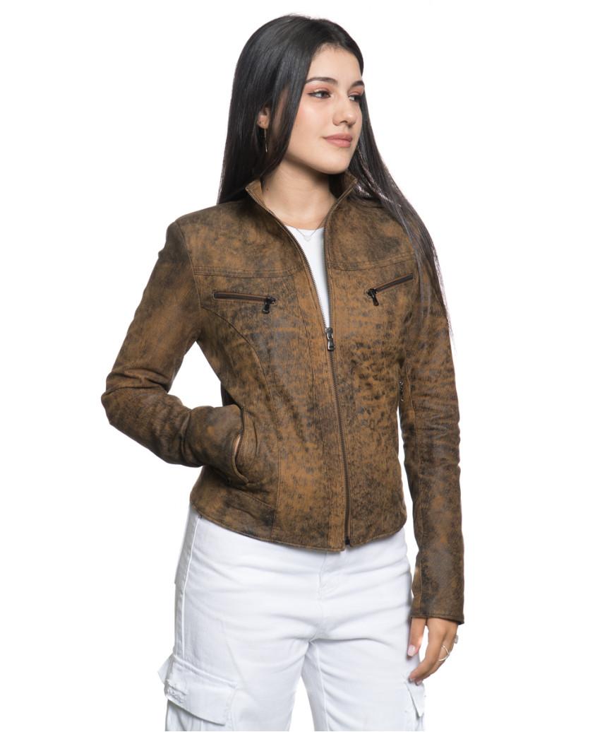 Frank - Men Jacket of Genuine Aged Dark Brown Leather - 5