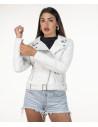 Violetta Bis - Women Jacket in Genuine Beige Soft Leather - 3