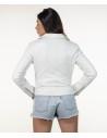 Violetta Bis - Women Jacket in Genuine Beige Soft Leather - 5