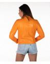 Violetta Bis - Women Genuine Mud Color Leather Jacket Oil Vintage - 2