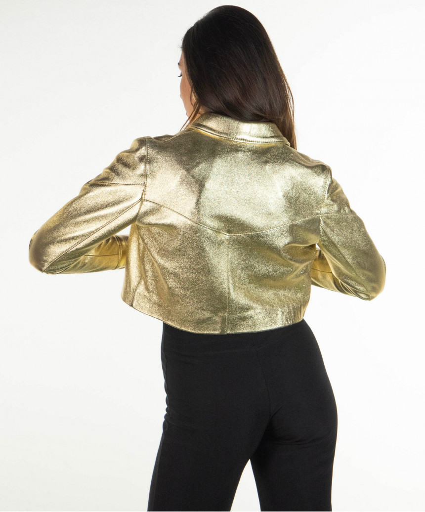 Bomber Napoli - Men's Jacket in Genuine Blue Leather Oil Vintage - 3