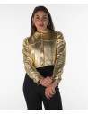 Bomber Napoli - Men's Jacket in Genuine Blue Leather Oil Vintage - 4