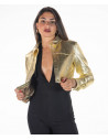 Bomber Napoli - Men's Jacket in Genuine Blue Leather Oil Vintage - 5